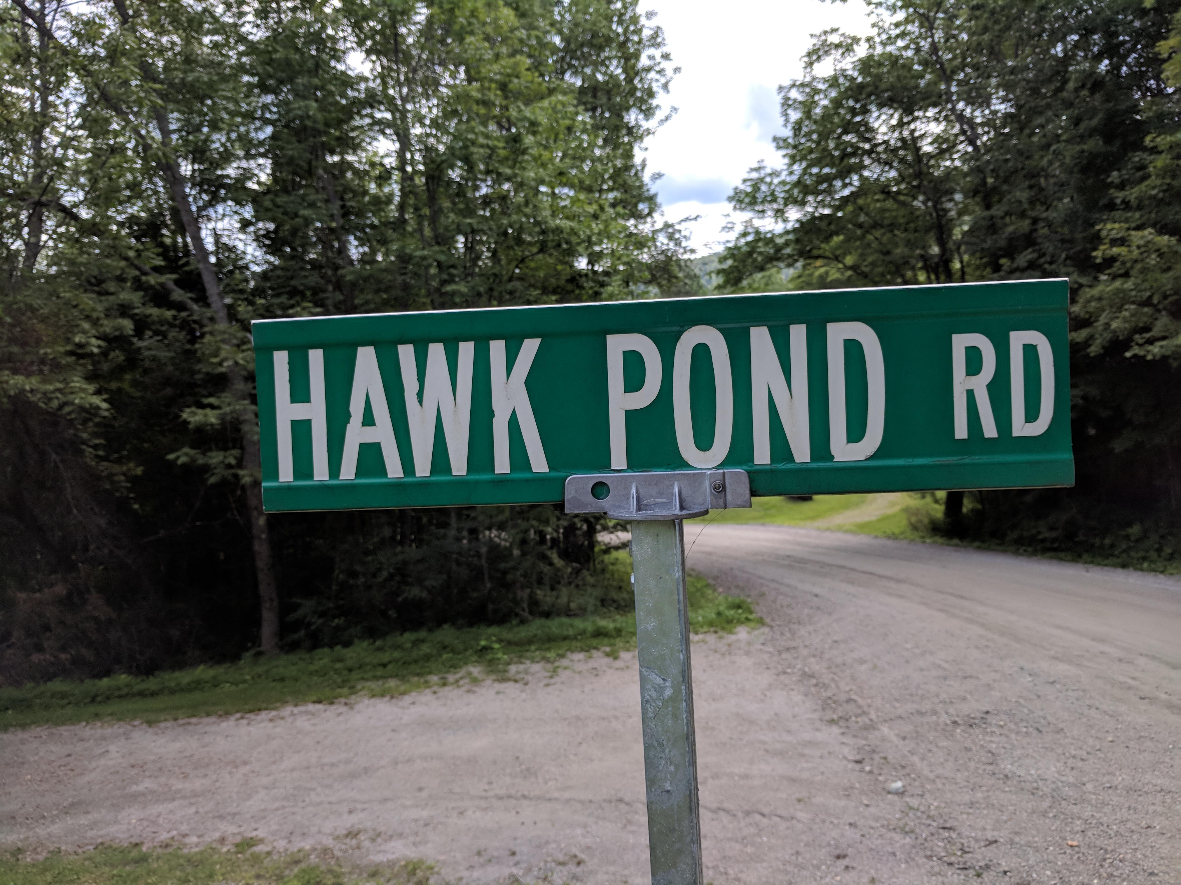 Hawk Pond Rd at Hawk Mountain Pittsfield VT
