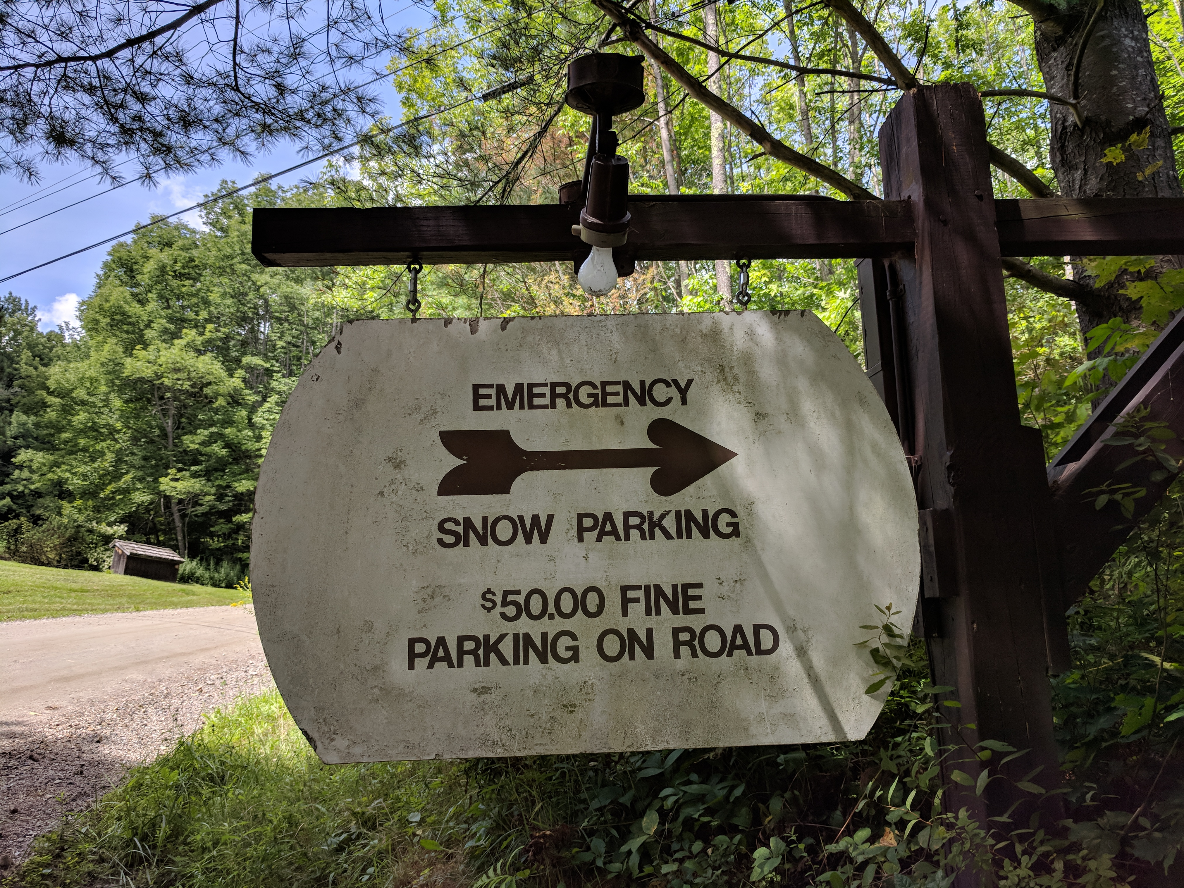 Emergency Snow Parking at Hawk Mountain Pittsfield VT