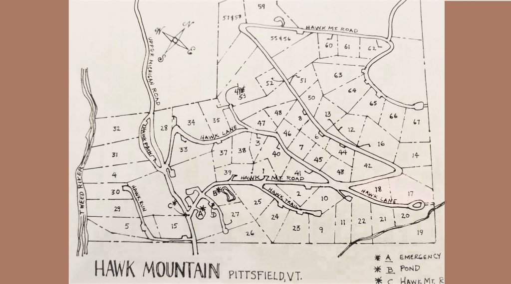 hawk land map Pittsfield Vt 05762