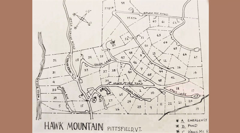 Hawk Mountain Land Plot and Easement Map