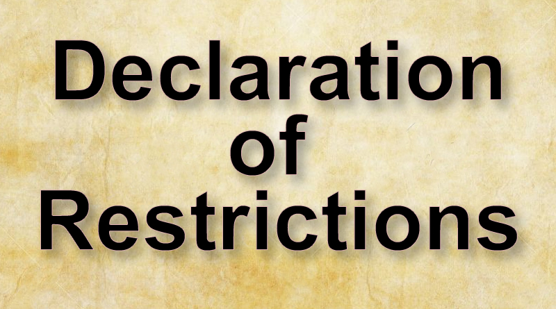 declaration-of-restrictions